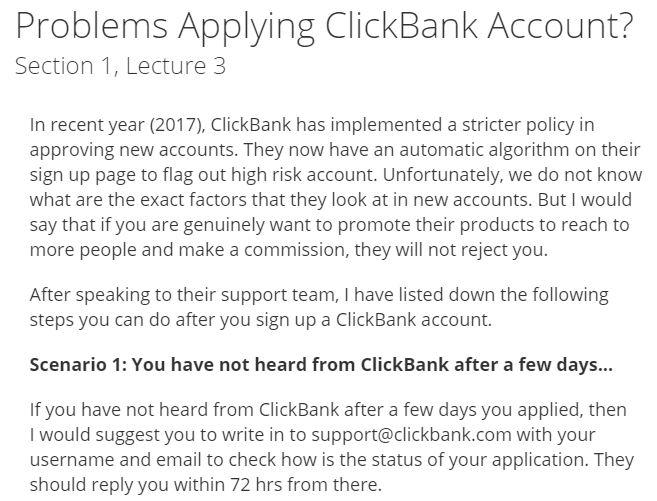 Tips khắc phục đăng ký tài khoản clickbank
