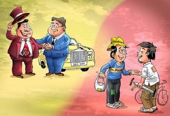 sự khác biệt giữa kẻ giàu và người nghèo