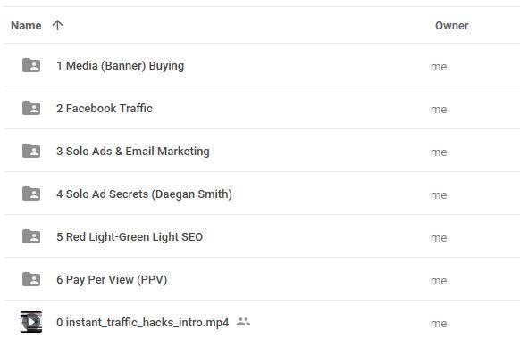 Khóa học tăng lượng truy cập website Instant Traffic Hacks
